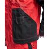 Veste de travail Blaklader bicolore multipoche Rouge / Noir Détail