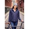 Veste de travail polaire zippée femme Russell gris foncé mannequin