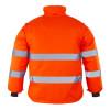 Veste haute visibilité 2 en 1 manches amovibles Coverguard ROADWAY - Veste haute visibilité 2en1 manches amovibles Coverguard Roadway Orange Dos