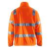 Veste polaire Haute Visibilité Homme Blaklader Classe 3 Orange Dos