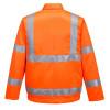 Veste haute visibilité Portwest GO/RT polycoton - Veste Haute Visibilité Portwest GO/RT poly-coton Orange Dos