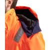 Veste haute visibilité hiver Blaklader Stretch Orange / Marine détail
