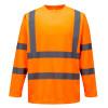 Tee-shirt haute visibilité Portwest manches longues - Orange