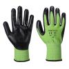 Gants anti-coupures Portwest A645 Green Cut 5 Mousse Nitrile