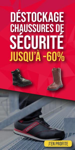 DÉSTOCKAGE CHAUSSURES DE SECURITE