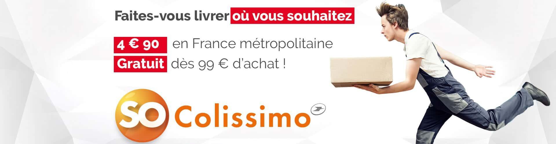 Livraison par Colissimo gratuite des 99€