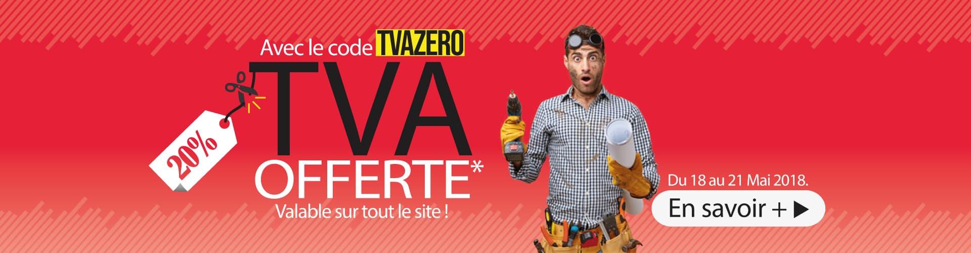 TVA offerte sur tout le site !