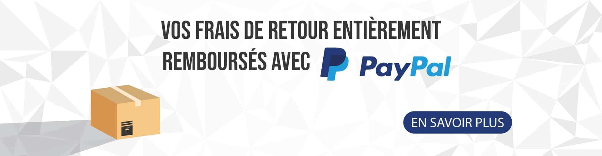 Paypal vous rembourse vos frais de retour !